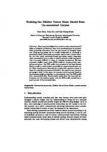 Training the Hidden Vector State Model from Un ... - Semantic Scholar
