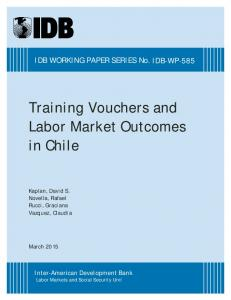 Training Vouchers and Labor Market Outcomes in Chile