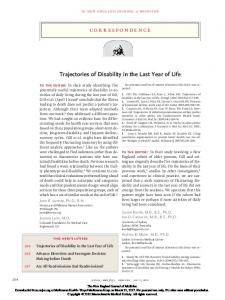 Trajectories of Disability in the Last Year of Life