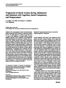 Trajectories of Social Anxiety during Adolescence and ... - Springer Link