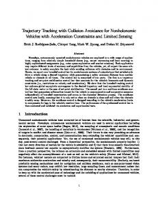 Trajectory Tracking with Collision Avoidance for ... - USNA