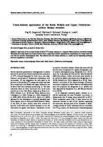 Trans-Atlantic application of the Baltic Middle and Upper Ordovician ...