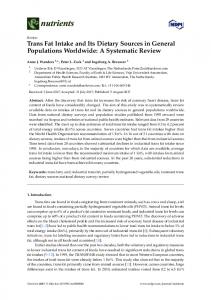 Trans Fat Intake and Its Dietary Sources in General ... - Versione online