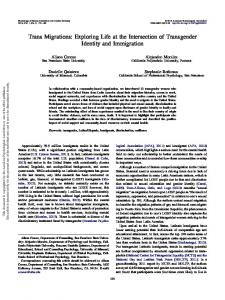 Trans Migrations - APA PsycNET - American Psychological Association