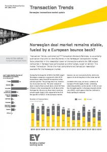 Transaction Trends no. 4-2013 - Ernst & Young