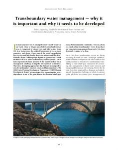 Transboundary water management - Water Governance Facility