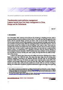 Transboundary water pollution management ... - Utrecht Law Review