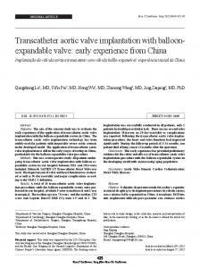 Transcatheter aortic valve implantation with