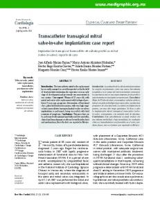 Transcatheter transapical mitral valve-in-valve ... - Medigraphic