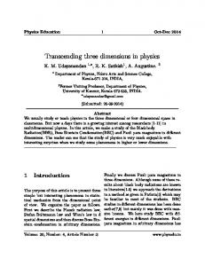 Transcending three dimensions in physics