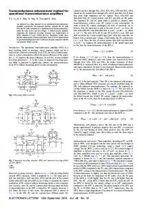 Transconductance enhancement method for operational ... - IEEE Xplore