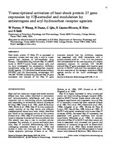 Transcriptional activation of heat shock protein 27 gene expression by ...