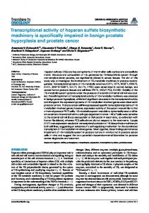Transcriptional activity of heparan sulfate biosynthetic ... - BioMedSearch