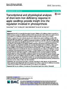 Transcriptional and physiological analyses of short ... - BMC Genomics