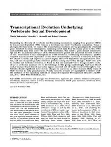 Transcriptional evolution underlying vertebrate ... - Wiley Online Library