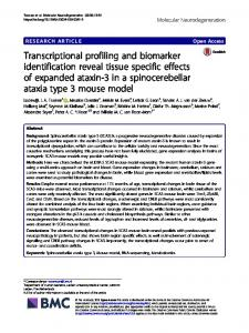 Transcriptional profiling and biomarker identification reveal tissue ...