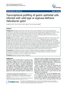 Transcriptional profiling of gastric epithelial cells ... - BioMedSearch
