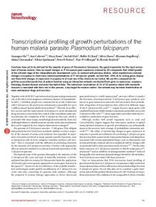 Transcriptional profiling of growth perturbations of the human ... - Nature