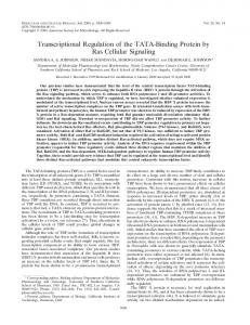 Transcriptional Regulation of the TATA-Binding Protein by Ras ...