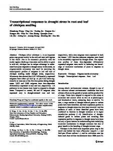 Transcriptional responses to drought stress in root ... - Semantic Scholar