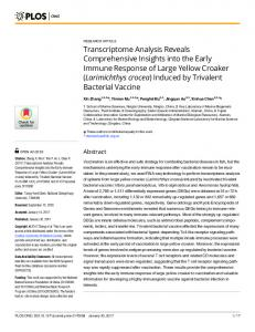 Transcriptome Analysis Reveals Comprehensive Insights into ... - PLOS