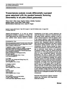 Transcriptome analysis reveals differentially expressed genes ...