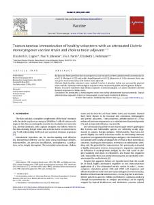 Transcutaneous immunization of healthy volunteers with an ... - Core