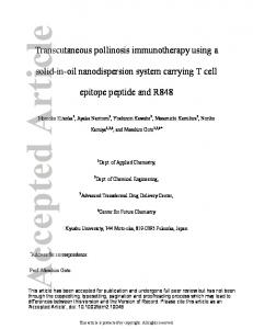 Transcutaneous pollinosis immunotherapy ... - Wiley Online Library