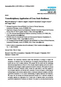 Transdisciplinary Application of Cross-Scale