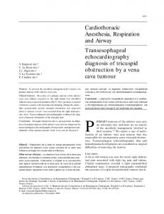 Transesophageal echocardiograhy diagnosis of ... - Springer Link