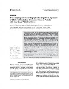 Transesophageal Echocardiographic Findings ... - KoreaMed Synapse
