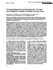 Transesophageal Echocardiography for Coronary ... - Semantic Scholar