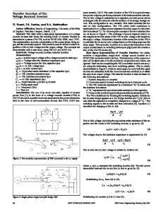 Transfer function of the voltage sourced inverter - IEEE Xplore