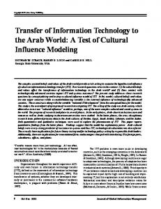 Transfer of Information Technology to the Arab World: A ... - CiteSeerX