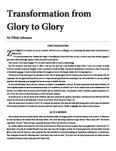 Transformation from Glory to Glory