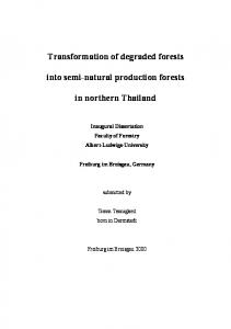 Transformation of degraded forests into semi-natural production ...