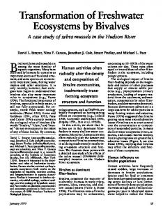 Transformation of Freshwater Ecosystems by ... - Faculty Virginia