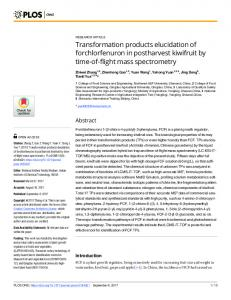 Transformation products elucidation of