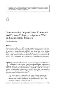 Transformative Empowerment Evaluation and ... - Wiley Online Library