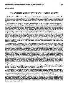 transformer electrical insulation - IEEE Xplore