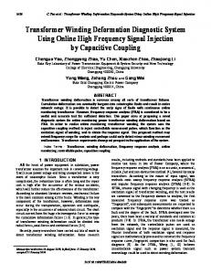 Transformer Winding Deformation Diagnostic System ... - IEEE Xplore