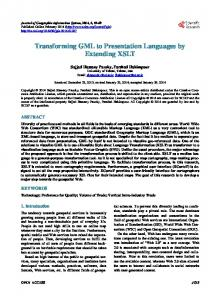 Transforming GML to Presentation Languages by Extending XSLT