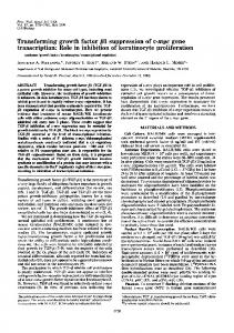 Transforming growth factor (81 suppression of c-myc gene ... - NCBI