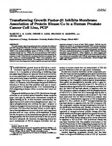 Transforming Growth Factor - CiteSeerX