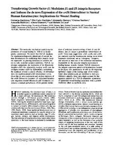 Transforming Growth Factor-/ l Modulates #1 and/ 5 ... - BioMedSearch