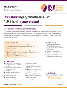 Transformlegacy datastreams with 100% fidelity, guaranteed.