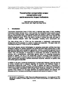 Transfrontier conservation areas - Global Transboundary ...
