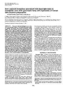 transgenic mice with pancreatic beta cell expression of ... - Europe PMC