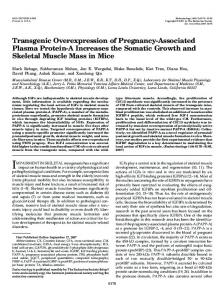 Transgenic Overexpression of Pregnancy-Associated Plasma Protein ...