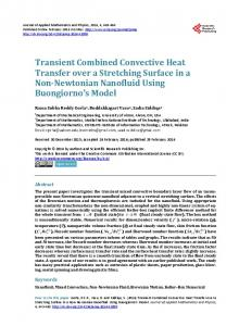 Transient Combined Convective Heat Transfer over a Stretching ...